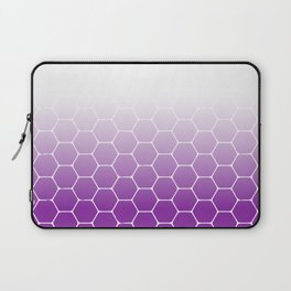 White Purple Hexagon Laptop Sleeve