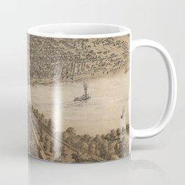 Vintage Pictorial Map of Peoria Illinois (1867) Coffee Mug