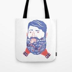 Animals in Beard Tote Bag
