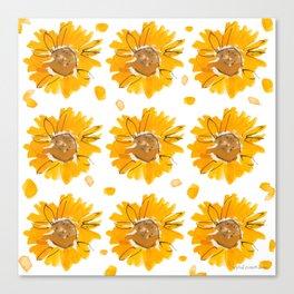 Sunny Sunflowers Canvas Print