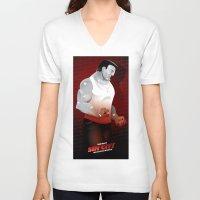 sin city V-neck T-shirts featuring Sin City-Marv by Szoki