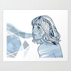 Lavender Diamond Art Print