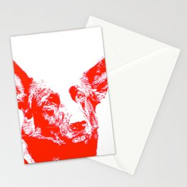 red Mitzi Stationery Cards