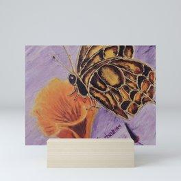 Delicateness butterfly   Délicatesse papillon Mini Art Print