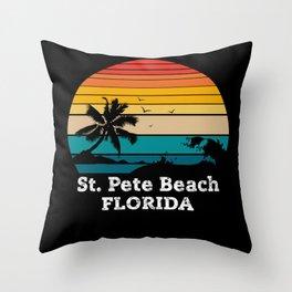 St. Pete Beach FLORIDA Throw Pillow