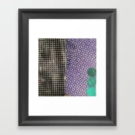 eyes (halftone) Framed Art Print