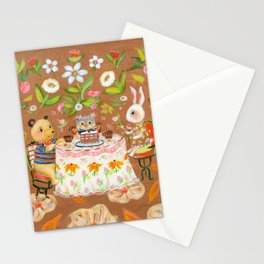 Birthday in strawberry field Stationery Cards