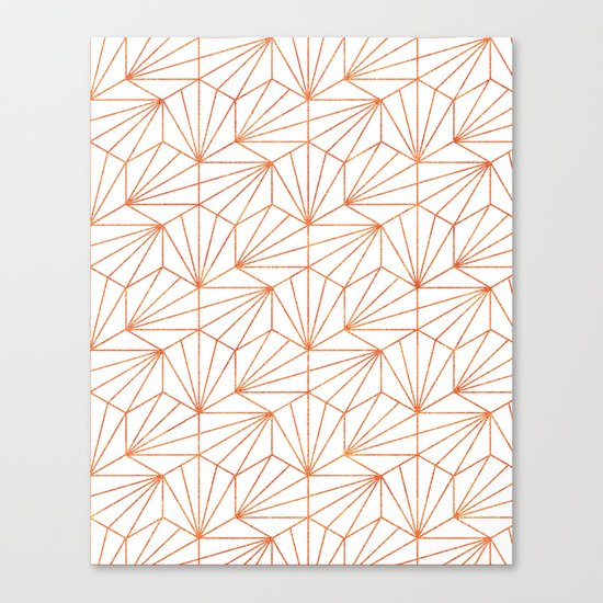 Rose Gold & White #society6 #decor #buyart Canvas Print