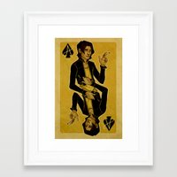 cargline Framed Art Prints featuring Ace of Spades by cargdoodles