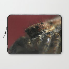 Spider on Red Laptop Sleeve