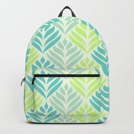 Abstract Lotus - Mint and Aqua Backpack
