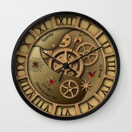Steampunk clock gold Wall Clock