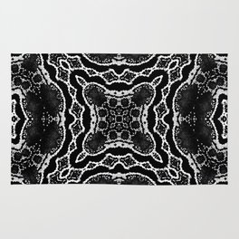 abstract jewel black Rug