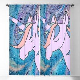 Happy Summer Unicorn Beach On Rainbow Sea Foam Blackout Curtain