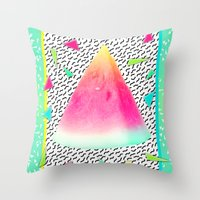 watermelon Throw Pillows featuring Watermelon by Danny Ivan