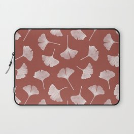 Ginkgo Biloba Pattern | Terracota Background Laptop Sleeve