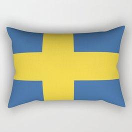 Sweden flag emblem Rectangular Pillow