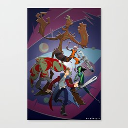 Guardians of the Galaxy (Print) Canvas Print