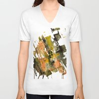 the strokes V-neck T-shirts featuring Autumn Strokes by Bestree Art Designs