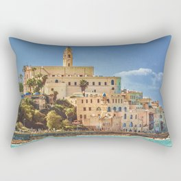 Old Jaffa Cityscape, Israel Rectangular Pillow