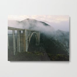 Bixby Bridge, Big Sur, California (landscape) Metal Print