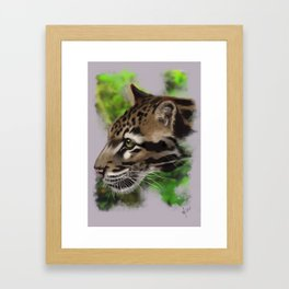 Clouded Leopard (digital) Framed Art Print