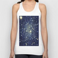 galaxy Tank Tops featuring galaxY Stars : Midnight Blue & Gold by 2sweet4words Designs