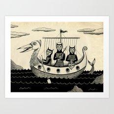 The Harpooners  Art Print