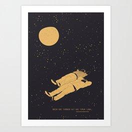 Tomar luna Art Print