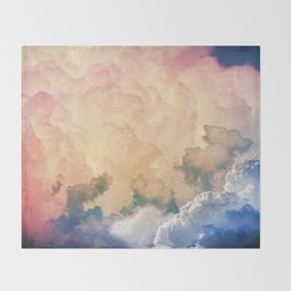 Dreamy Clouds Throw Blanket