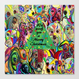 We Woof You a Merry Christmas Canvas Print