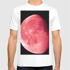 Red Moon Mens Fitted Tee White MEDIUM