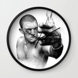 Vinz on ballpen B&W Wall Clock
