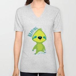 Napping Sloth Unisex V-Neck