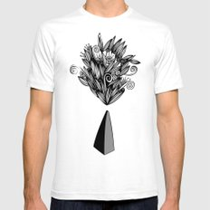 Flower Stone landscape Mens Fitted Tee White SMALL