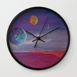 Day At The Beach | Original Art Piece | Alien Beach Day Wall Clock