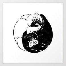 The Tao of French Bulldog Art Print