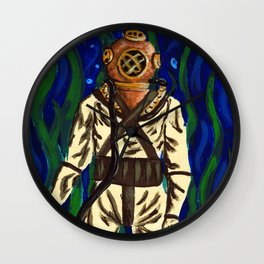 Diving Suit Wall Clock