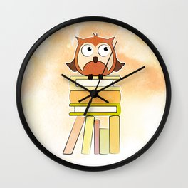 OWL READS Wall Clock