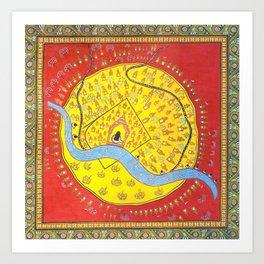 Sacred Geography of Banaras Art Print