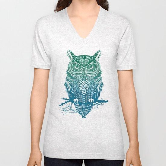 Warrior Owl Unisex V-Neck