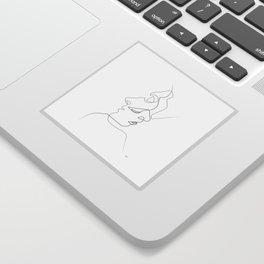 Close on white Sticker