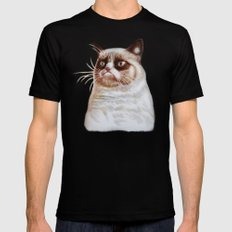 Grumpycat Mens Fitted Tee SMALL Black