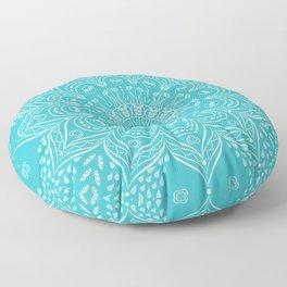 Teal mandala Floor Pillow