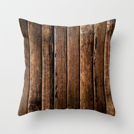 Farmhouse Wood Slats Wood Design Throw Pillow