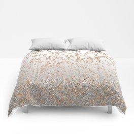 Glitter sparkle mix - rose gold & silver Comforters