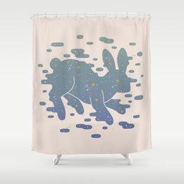 Lepus Constellation: Pastel Shower Curtain