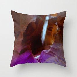 Lights and colors, Low  Antelope Canyon, Arizona Throw Pillow