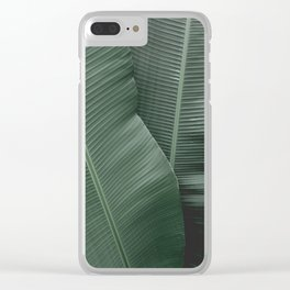 Green textures Clear iPhone Case
