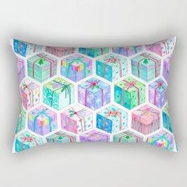 Christmas Gift Hexagons Rectangular Pillow